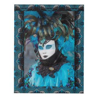 Artistic Carnival Costume Portrait, Venice Panel Wall Art