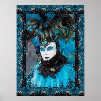 Artistic Carnival Costume Portrait, Venice Poster