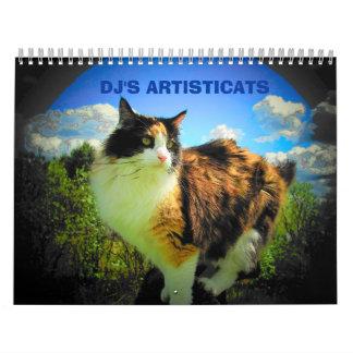 Artistic Cats - Artisticats by djoneill Calendar