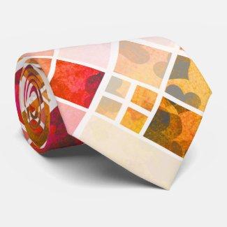 Artistic Checkered Heart Pattern Tie