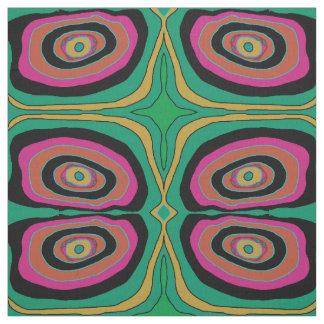 Artistic Circles pink/ green/ yellow/black> Fabric