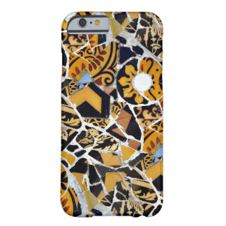 Artistic Collage of Broken Tiles-Brown Barely There iPhone 6 Case