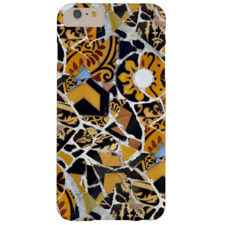 Artistic Collage of Broken Tiles-Brown Barely There iPhone 6 Plus Case