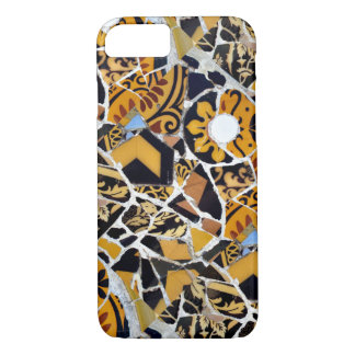 Artistic Collage of Broken Tiles-Brown iPhone 7 Case