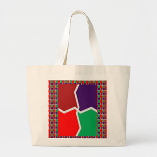 ARTISTIC Color Graphic INTENSE Energy GIFTS Large Tote Bag