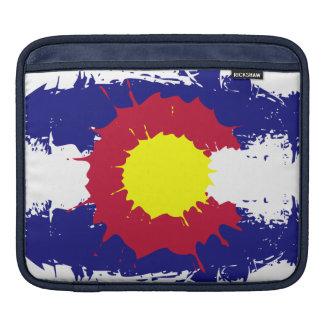 Artistic Colorado flag paint splatter mac sleeve