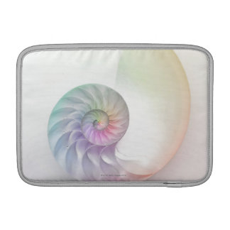 Artistic colored nautilus image sleeve for MacBook air