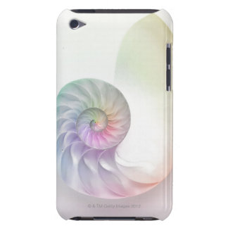 Artistic colored nautilus image iPod touch cover
