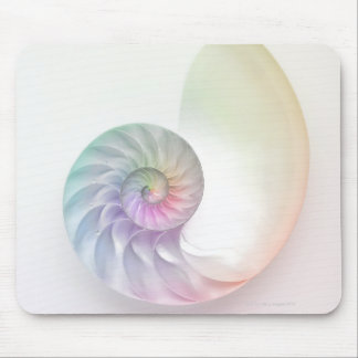 Artistic colored nautilus image mouse pad