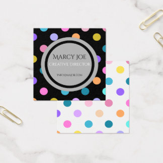 Artistic Colorful Black White Modern Business Card