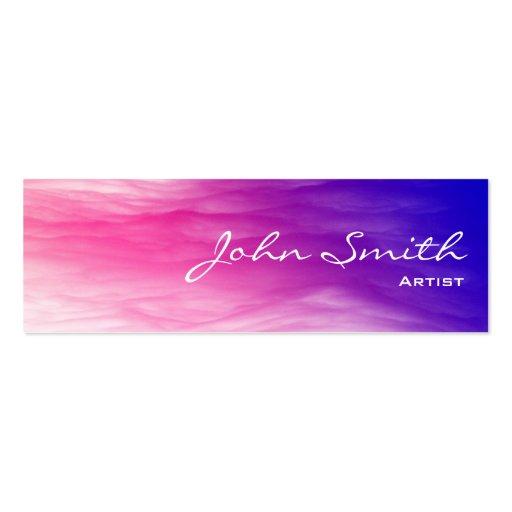 Artistic Colorful Clouds Mini Business Card