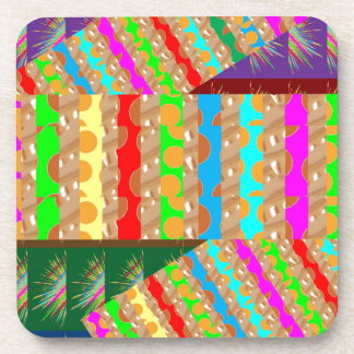 ARTISTIC Colorful Patch work: Great Gift OCCASIONS Beverage Coaster