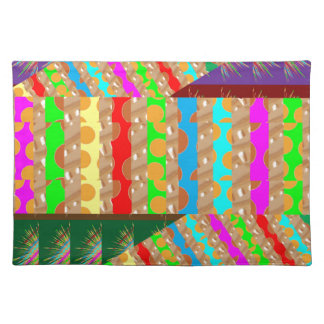 ARTISTIC Colorful Patch work: Great Gift OCCASIONS Cloth Place Mat