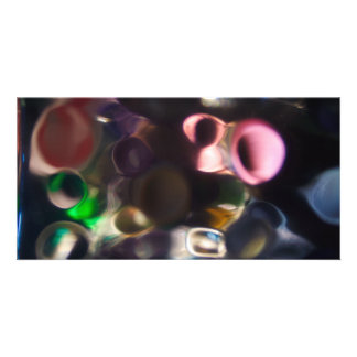 Artistic Colorful Pebbles - abstract art photo Custom Photo Card
