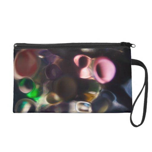 Artistic Colorful Pebbles - abstract art photo Wristlet Purse