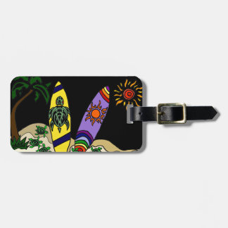 Artistic Colorful Surfboards Surfing Art Bag Tag