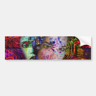 Artistic Confusion of Brain Fog Bumper Stickers