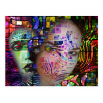 Artistic Confusion of Brain Fog Postcard