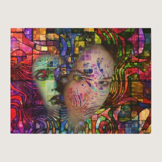 Artistic Confusion of Brain Fog Wood Print