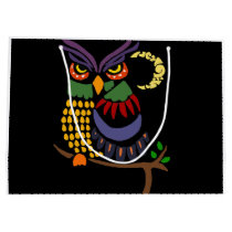 Artistic Cool Owl Abstract Art Large Gift Bag