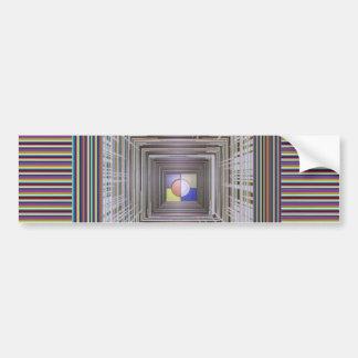 ARTISTIC Cosmic Infinity ART Light end of Tunnel Bumper Sticker