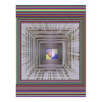 ARTISTIC Cosmic Infinity ART Light end of Tunnel Post Card