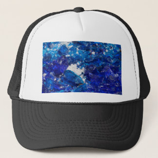 artistic creations with glass trucker hat