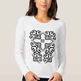 Artistic Cross Ladies Long Sleeve Tee Shirt