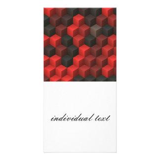 artistic cubes 7 red black (I) Card