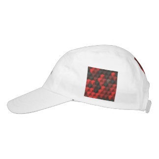 artistic cubes 7 red black (I) Headsweats Hat
