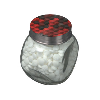 artistic cubes 7 red black (I) Jelly Belly Candy Jars