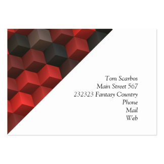 artistic cubes 7 red black (I) Large Business Card