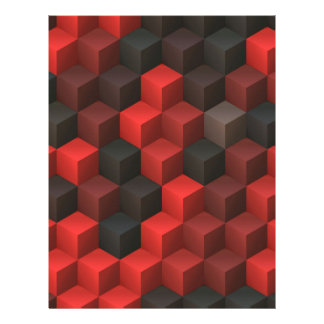 artistic cubes 7 red black (I) Letterhead