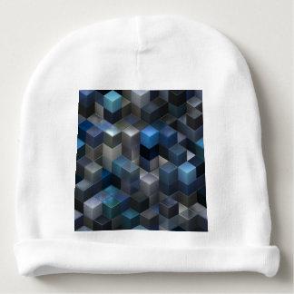 artistic cubes 9 blue (I) Baby Beanie