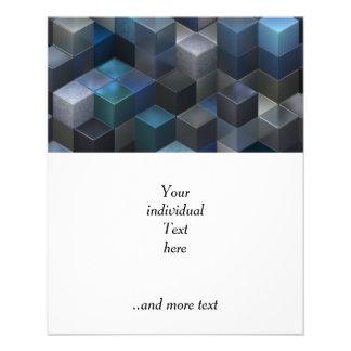 artistic cubes 9 blue (I) Flyer