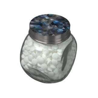 artistic cubes 9 blue (I) Jelly Belly Candy Jars
