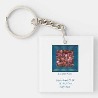 artistic cubes 9 pink red (I) Keychain
