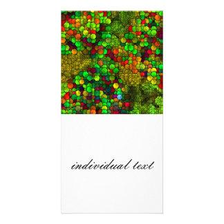 artistic cubes green (I) Card
