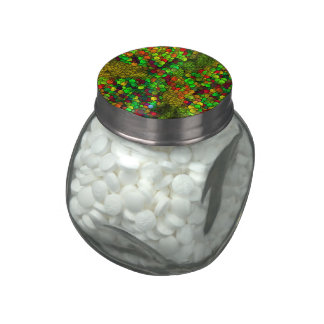 artistic cubes green (I) Glass Candy Jars