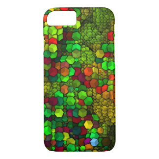 artistic cubes green (I) iPhone 7 Case