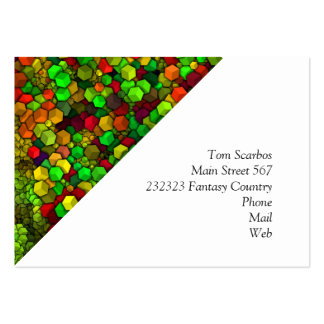 artistic cubes green (I) Large Business Card