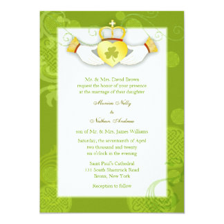 Artistic Cute Claddagh Heart Irish Wedding Card