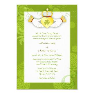 Artistic Cute Claddagh Heart Irish Wedding Invites