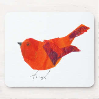 Artistic Cute Red Bird Mouse Pad