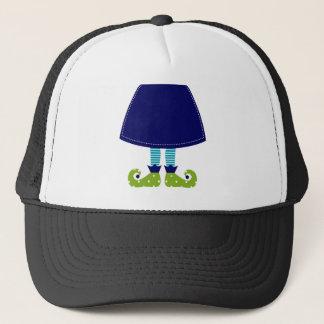 ARTISTIC CUTE WITCH LEGS BLUE TRUCKER HAT