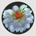 Artistic dahlia and meaning classic round sticker