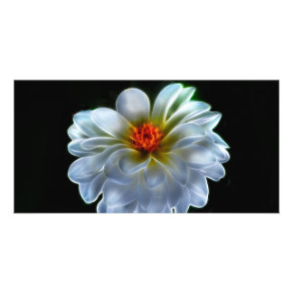 Artistic dahlia and meaning photo card