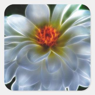 Artistic Dahlia flower Square Sticker