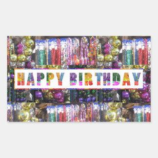 Artistic Decorative HAPPY BIRTHDAY Script Rectangular Sticker