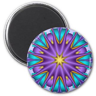 Artistic decorative  magnet Purple Star Flower